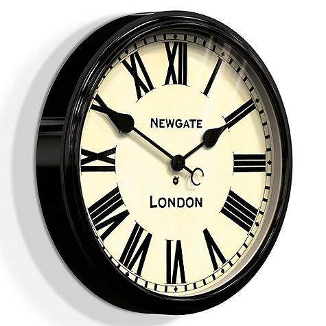 Newgate Clocks Battersby Wall Clock Dia 50cm Black Clock Black Clocks Kitchen Wall Clocks