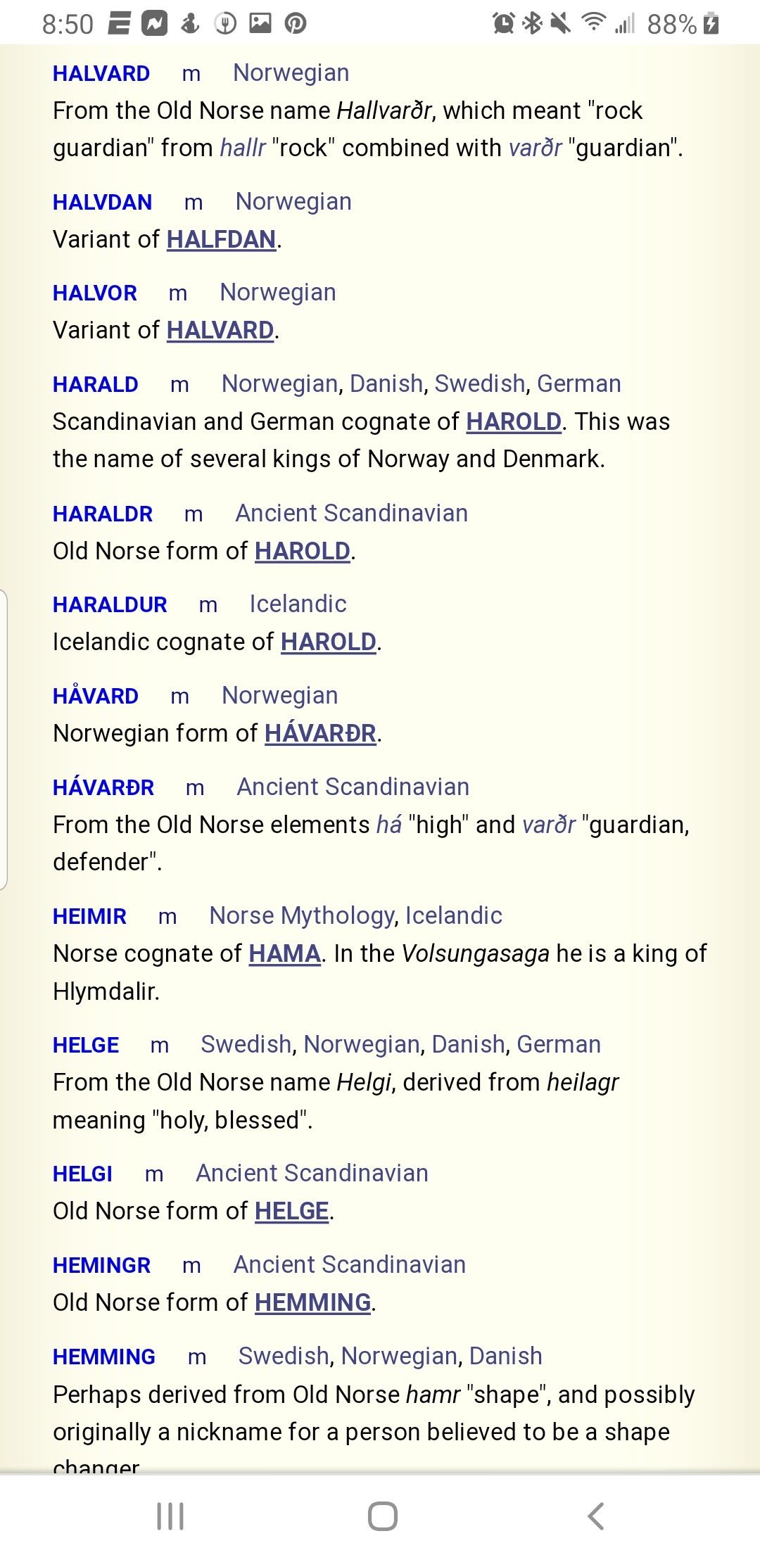 Pin By Jamie Cameron On Name Research Norse Names Old Norse Cognates