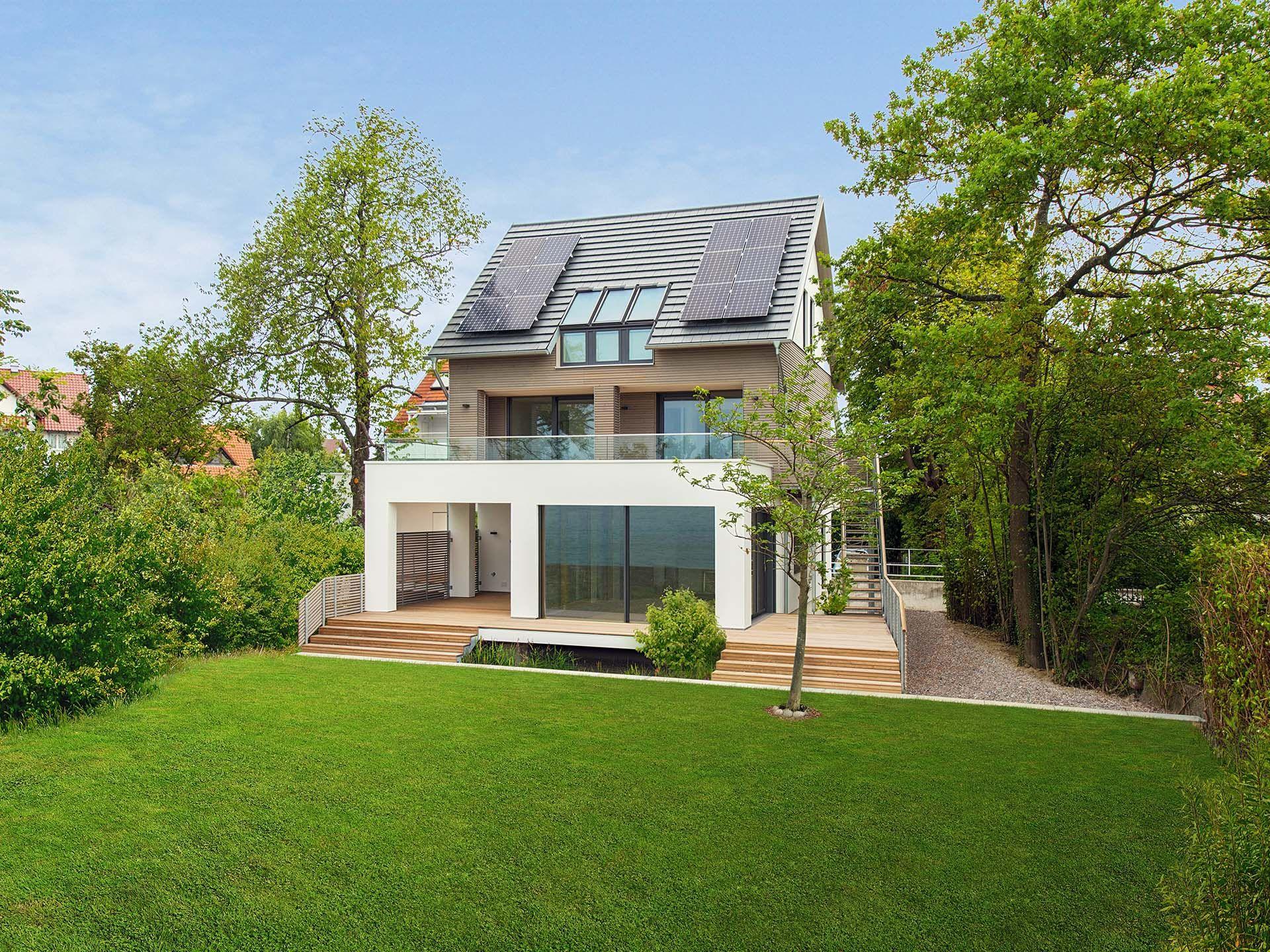 Musterhaus haus am see • holzhaus von baufritz • energieeffizientes zwei personen haus mit bungalowterrace
