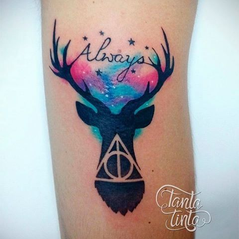 Image Result For Harry Potter Watercolor Tattoo Harry Tattoos