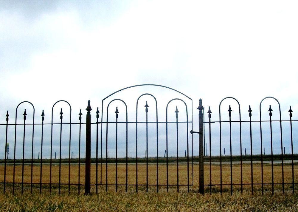 3u0027 Wrought Iron Gate Goes With 3u0027 Metal Garden Fence