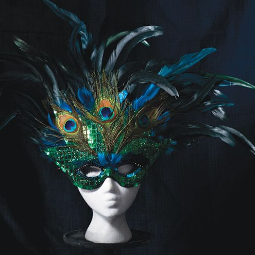 Halloween Costume Supplies is Gold Mask and feathers is DIY Mask