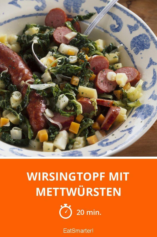 Wirsingtopf mit Mettwürsten - smarter - Zeit: 20 Min. | eatsmarter.de