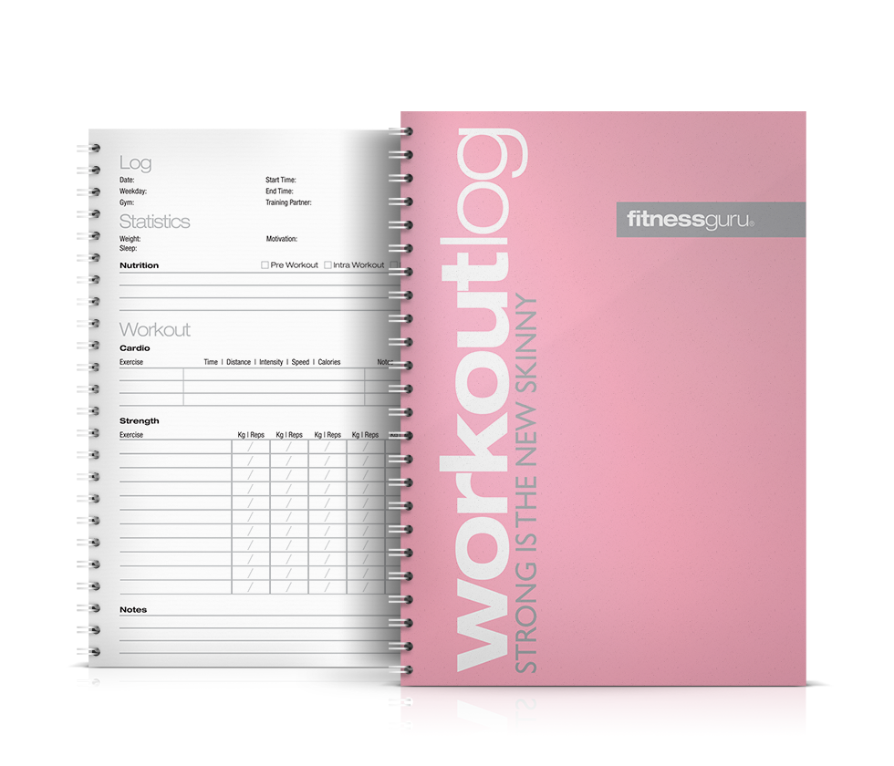 workout log pink fitnessguru might be a good idea for me health