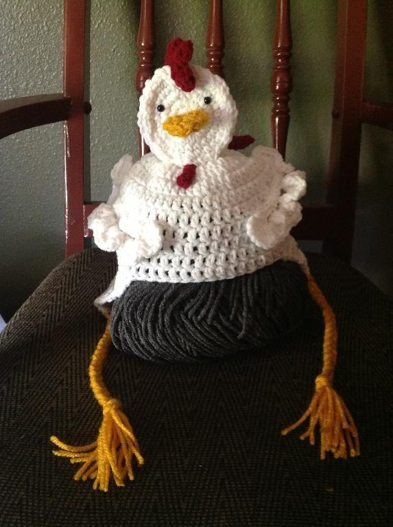 crochet rooster free patterns | Chicken hat crochet by Mrs Dee ...