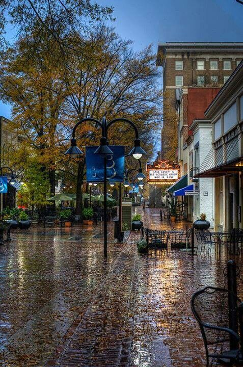 Charlottesville Virginia S Downtown Mall Beautiful Brick Walks Neat Restaurants And Cool