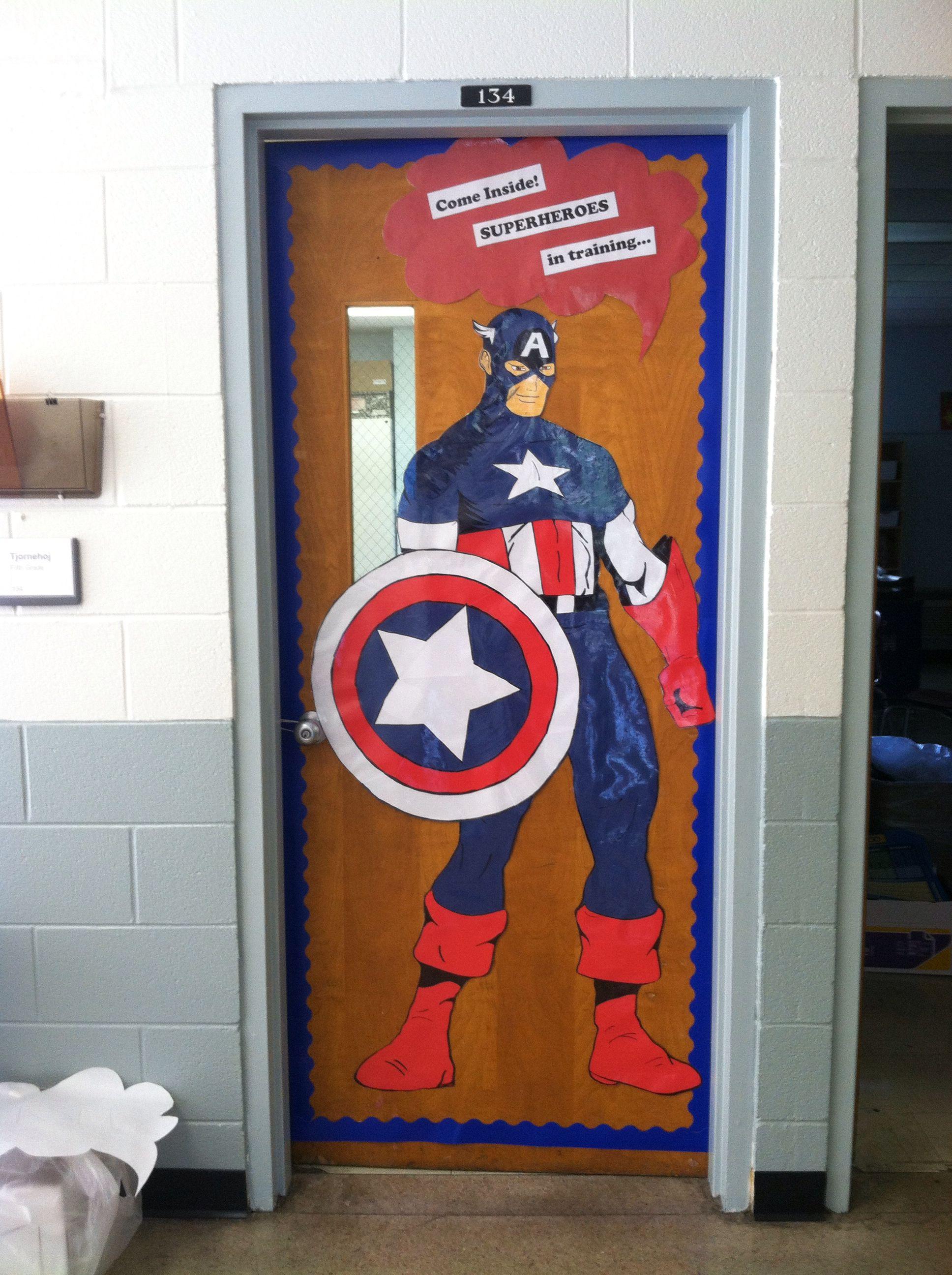 captain america theme teaching classroom superhero room superhero classroom. Black Bedroom Furniture Sets. Home Design Ideas