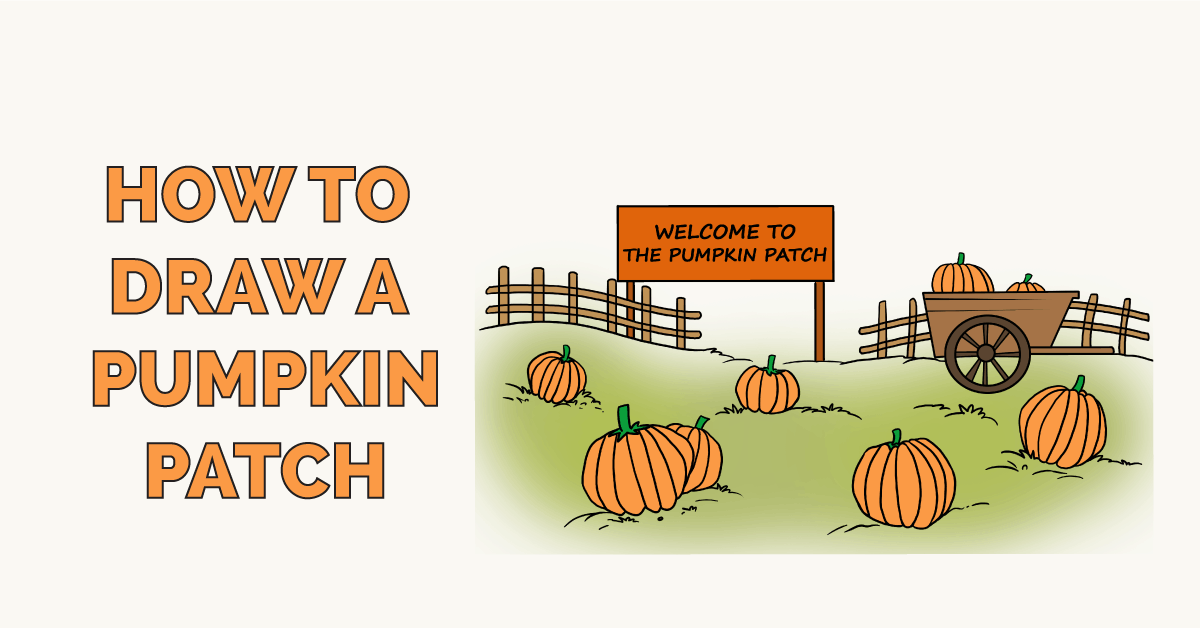 How To Draw A Pumpkin Patch Drawing Tutorial Easy Easy Drawings