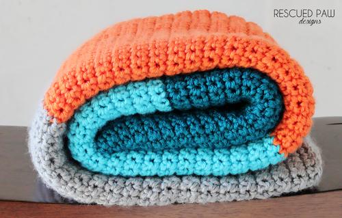 Simple Color Block Crochet Blanket Pattern Free Color Blocked