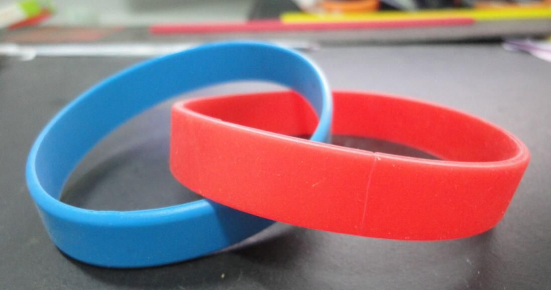 New promotion gift 2 in 1 silicone wristbands Existing mold, cheap - business quotation sample