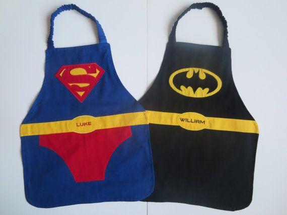 Batman Apron Men/'s Batman Inspired Apron Super Hero Apron Men/'s One Size Reversible Apron