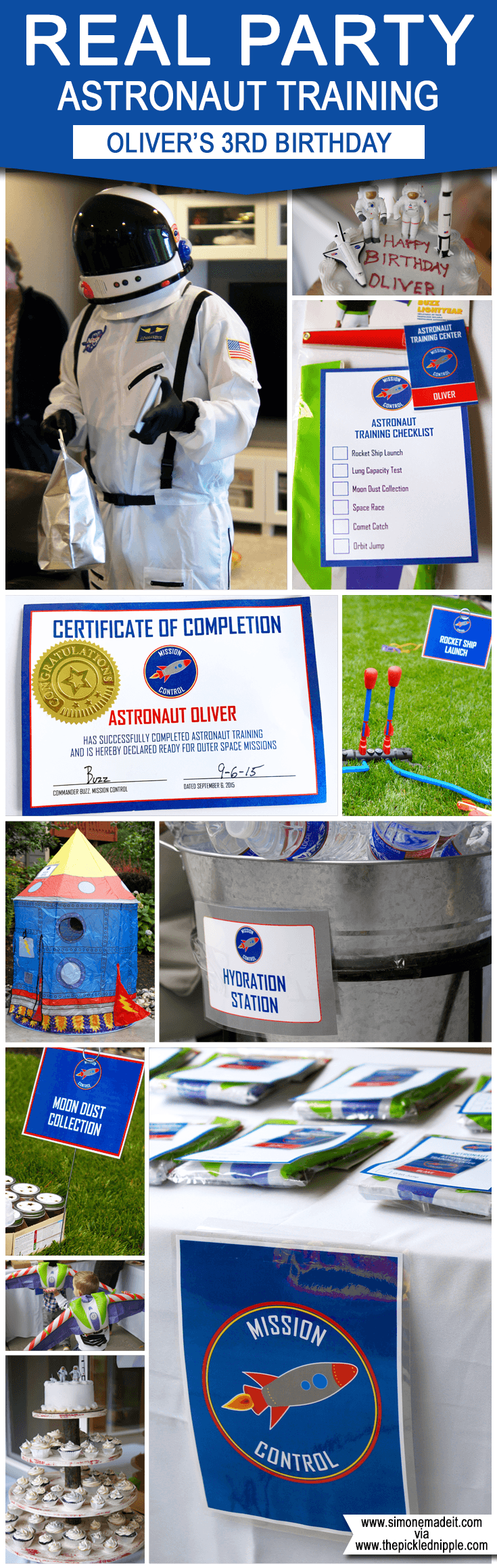 Oliver's Astronaut Training Birthday Party! Space party