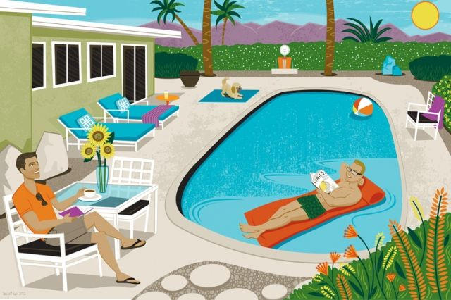 Palm springs portraiture by lucie rice vintage palm for Pool design graphic