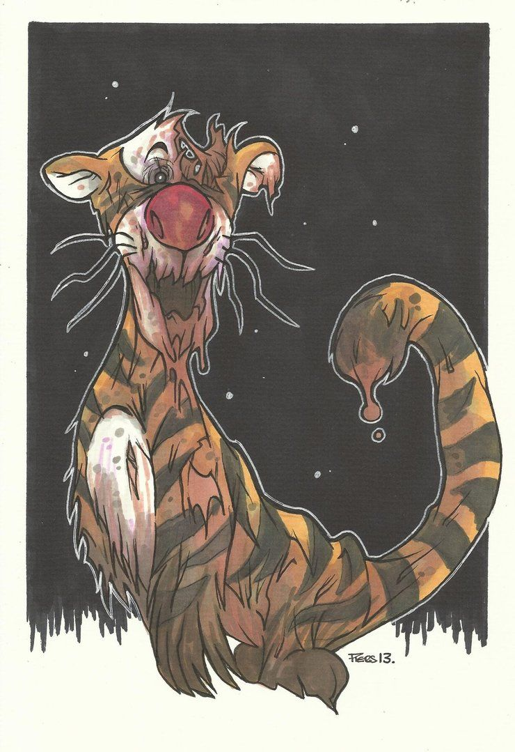 Zombie Tigger The Only Trigger Tat I Will Get Tattoos In 2019