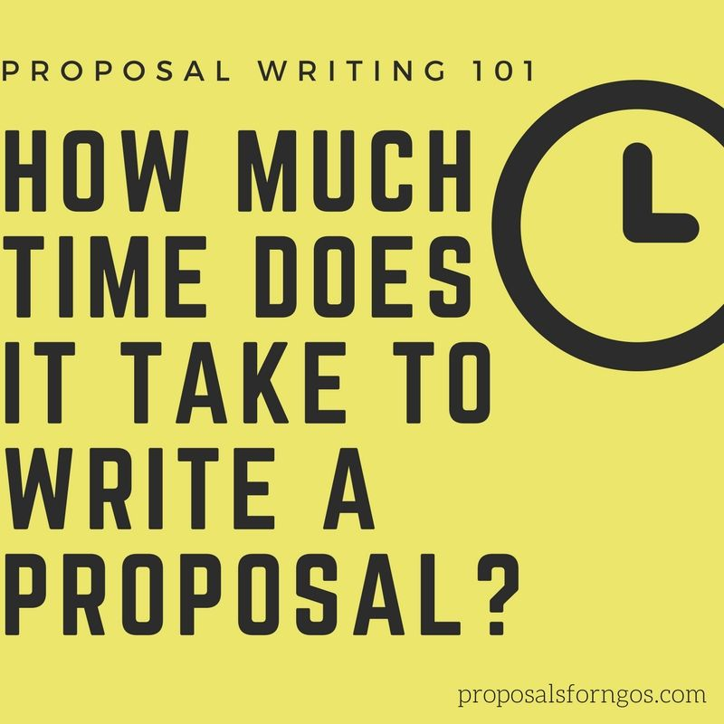 How much time does it take to write a proposal Proposal
