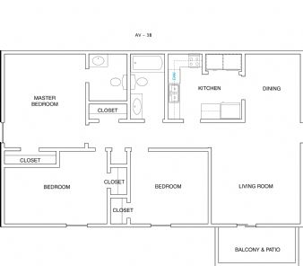 Spacious 3 BEDROOM 2 BATH FLAT. Call Aspen Village Apartments ...