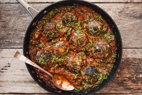 Bondi Harvest lamb, haloumi and mint meat balls recipes ...