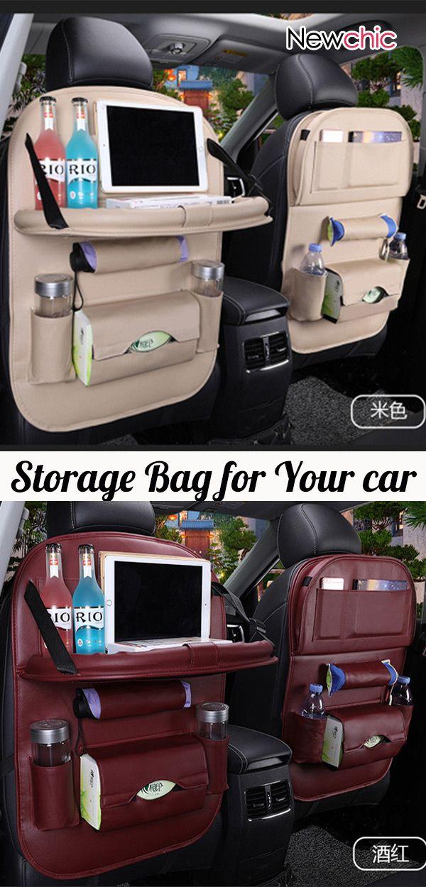 【Shop Now】49% OFF #Leather Car Seat #Storage Hanging Bag Multi-Function Bag #newcar