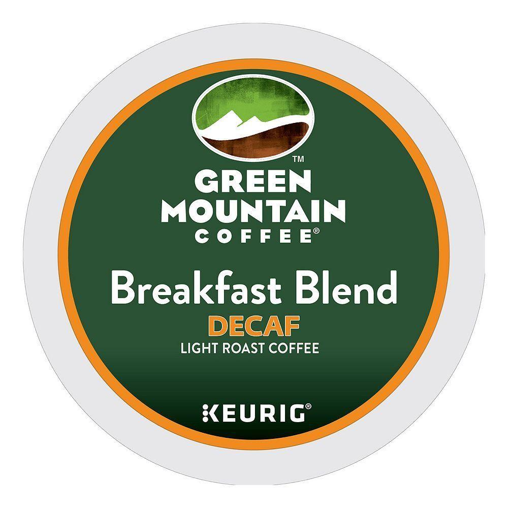 Green Mountain Coffee Keurig KCups, Decaf Breakfast Blend