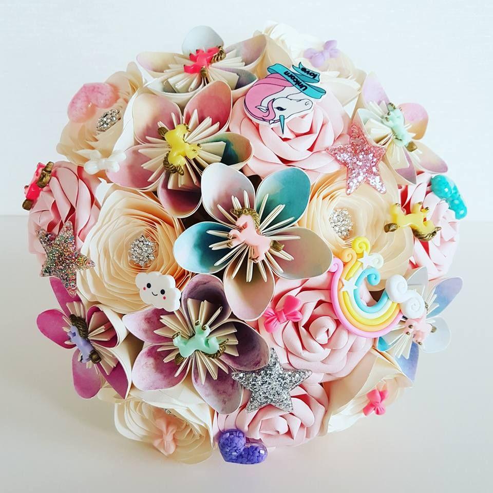 Bespoke Paper Bouquets UK Flower Wedding Custom Origami bridal