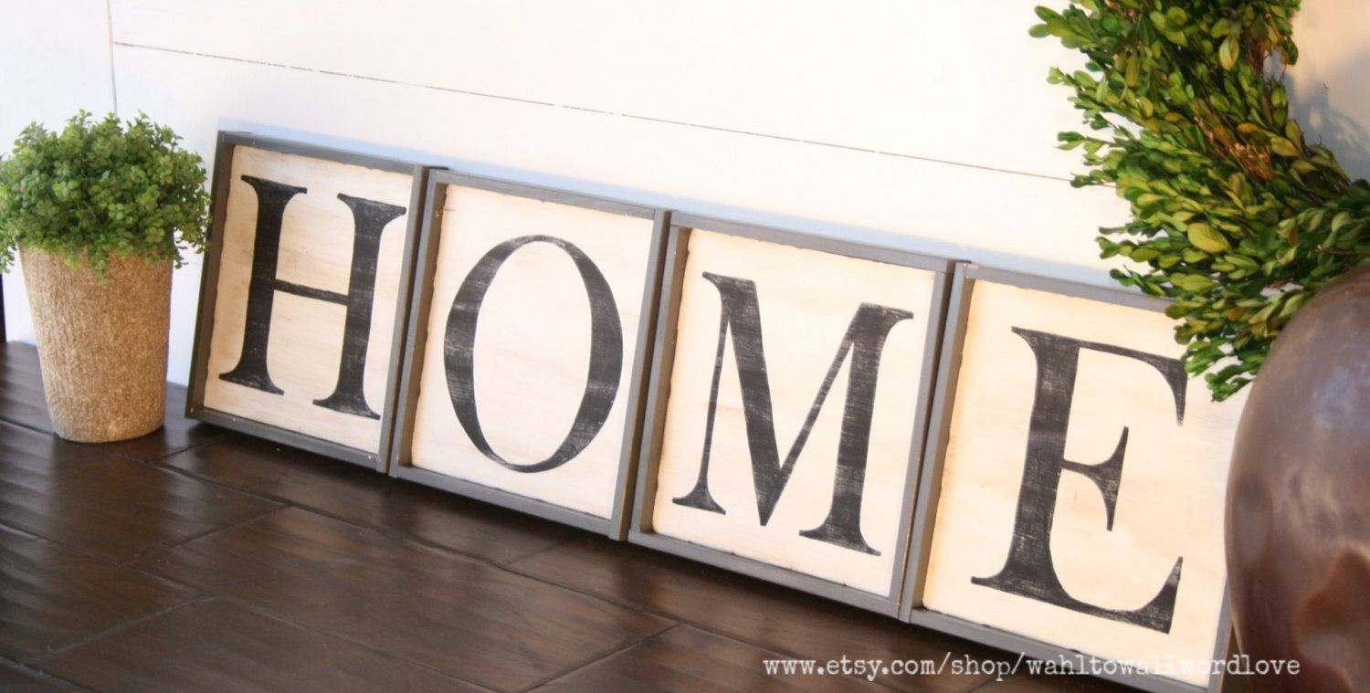 Home Capital Letter Wood Signs Wood Word Signs Hope Wall Art Housewarming Gift Wood Wall Decor Home Wooden Signs Wood Wall Decor House Warming Gifts