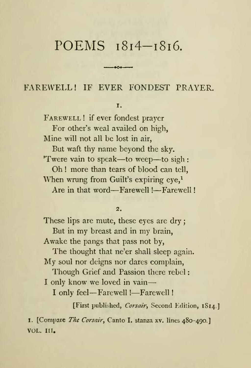 One Of My Favourite Poem 3 Lord Byron Poetry Inspiration Love Mutability William Wordsworth Summary Analysi