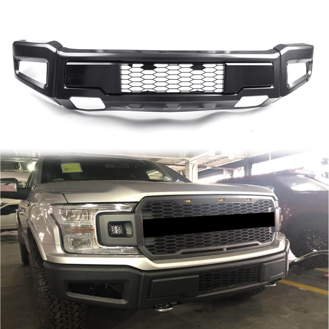 Raptor Style Front Bumper Assembly Kit For Ford F 150 2018 2019