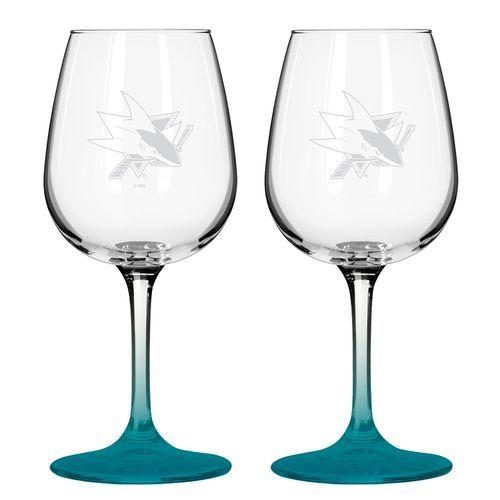 Boelter Brands San Jose Sharks 12 Oz. Wine Glasses 2-Pack