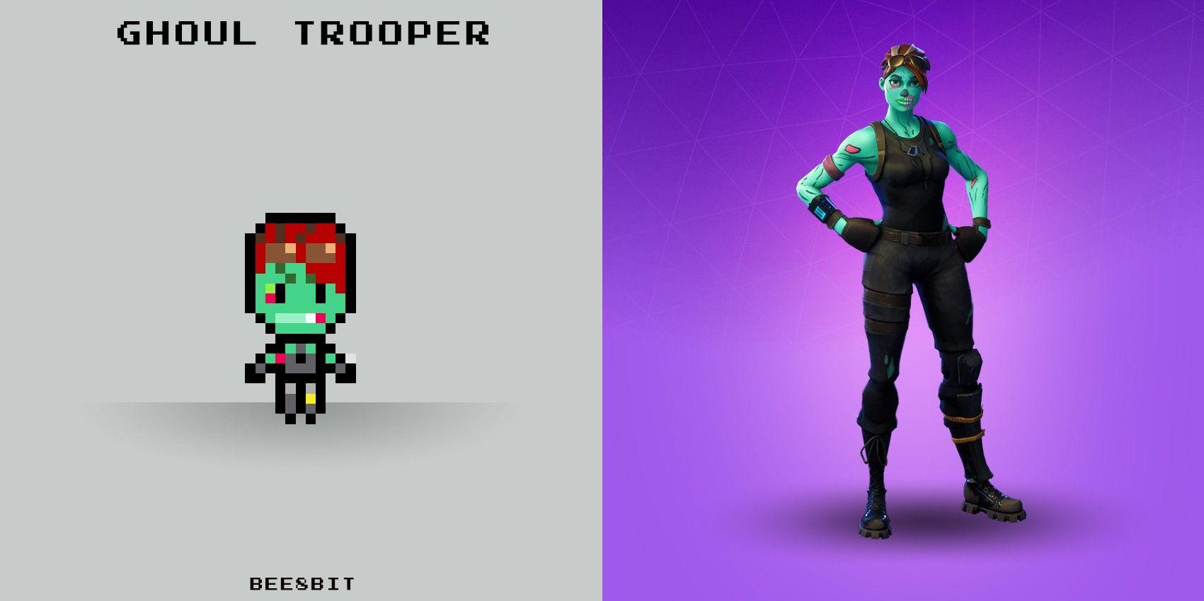 Ghoul Trooper Fortnite Pixel Hama Beads Perler Beads