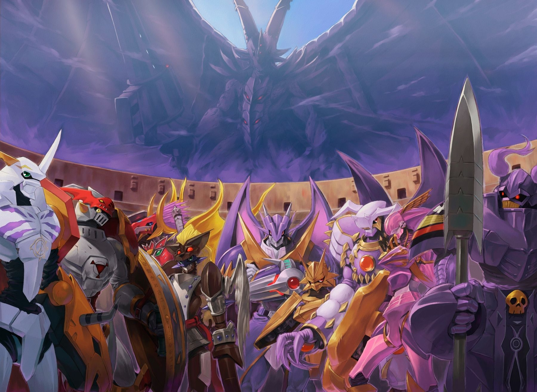Pin On Digimon The royal knights are finally complete stronger then ever song by: pin on digimon