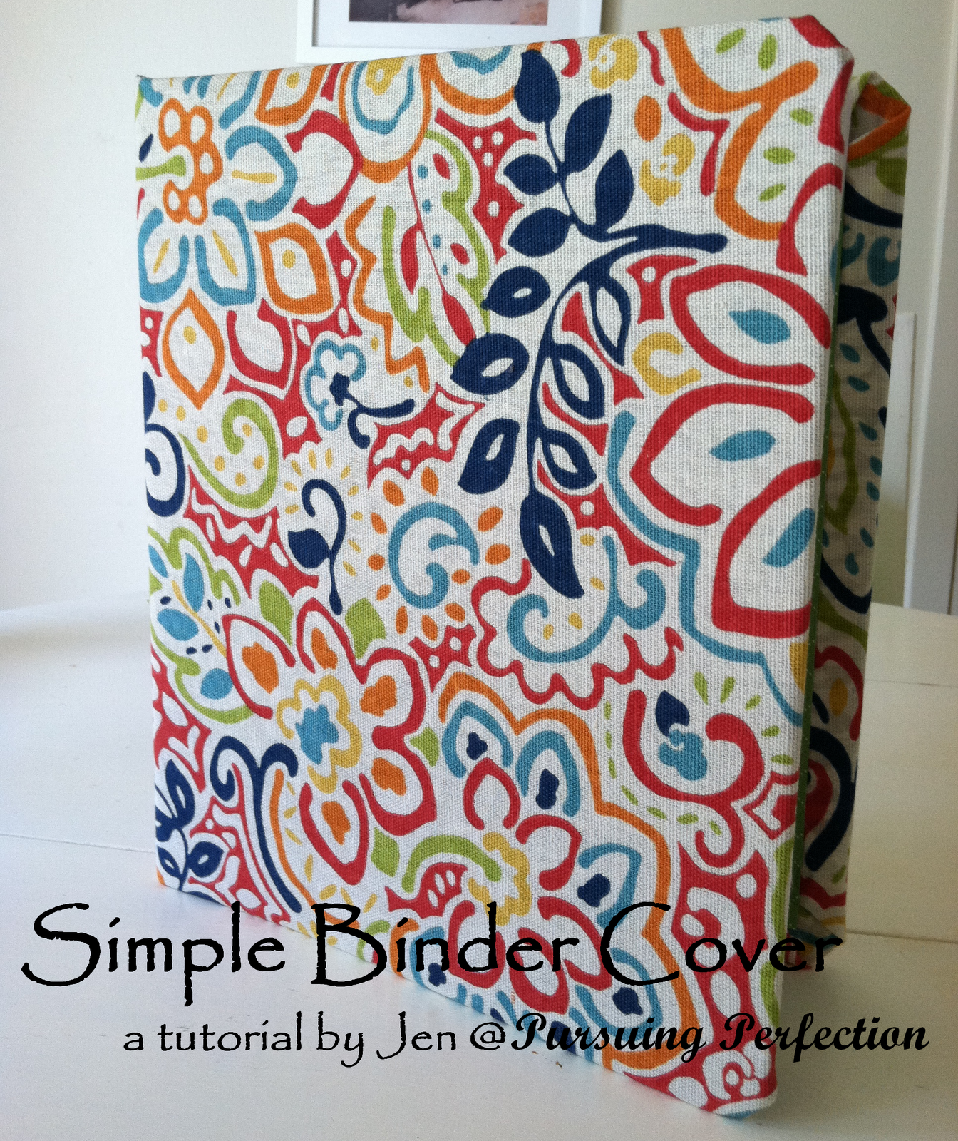 pursuing perfection simple binder cover a tutorial like