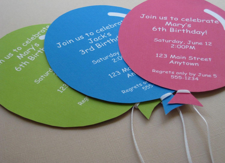 balloon party invitation - Google Search | balloon theme party ...