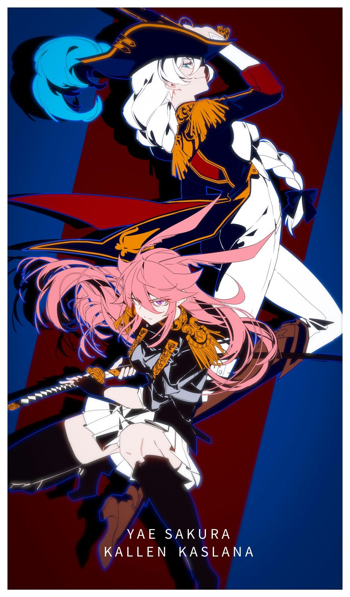 Yaezakura & Kallen Kaslana ◆ pixiv: BLAISE
