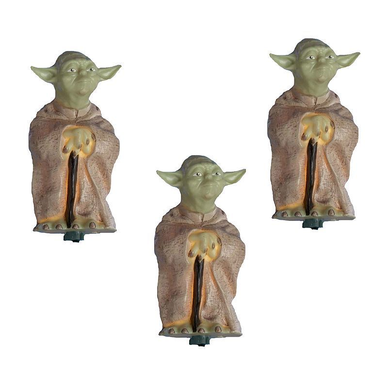 Kurt Adler 10-Light Star Wars Yoda Christmas Light Set Christmas