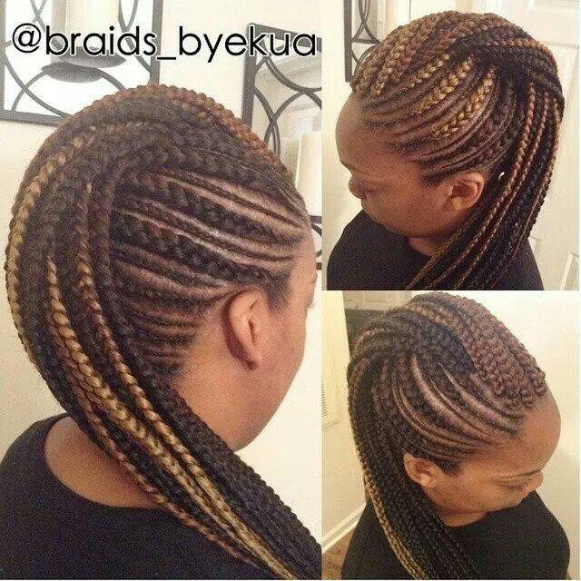 Love The Colors Tri Colored Braid Style Cornrow