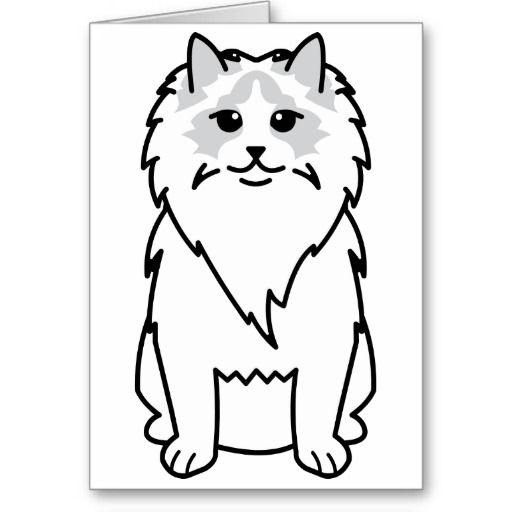 Ragdoll Cat Cartoon Greeting Card
