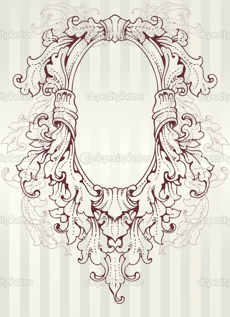 moldura oval antiga vetor - Pesquisa Google | baroque | Pinterest ...