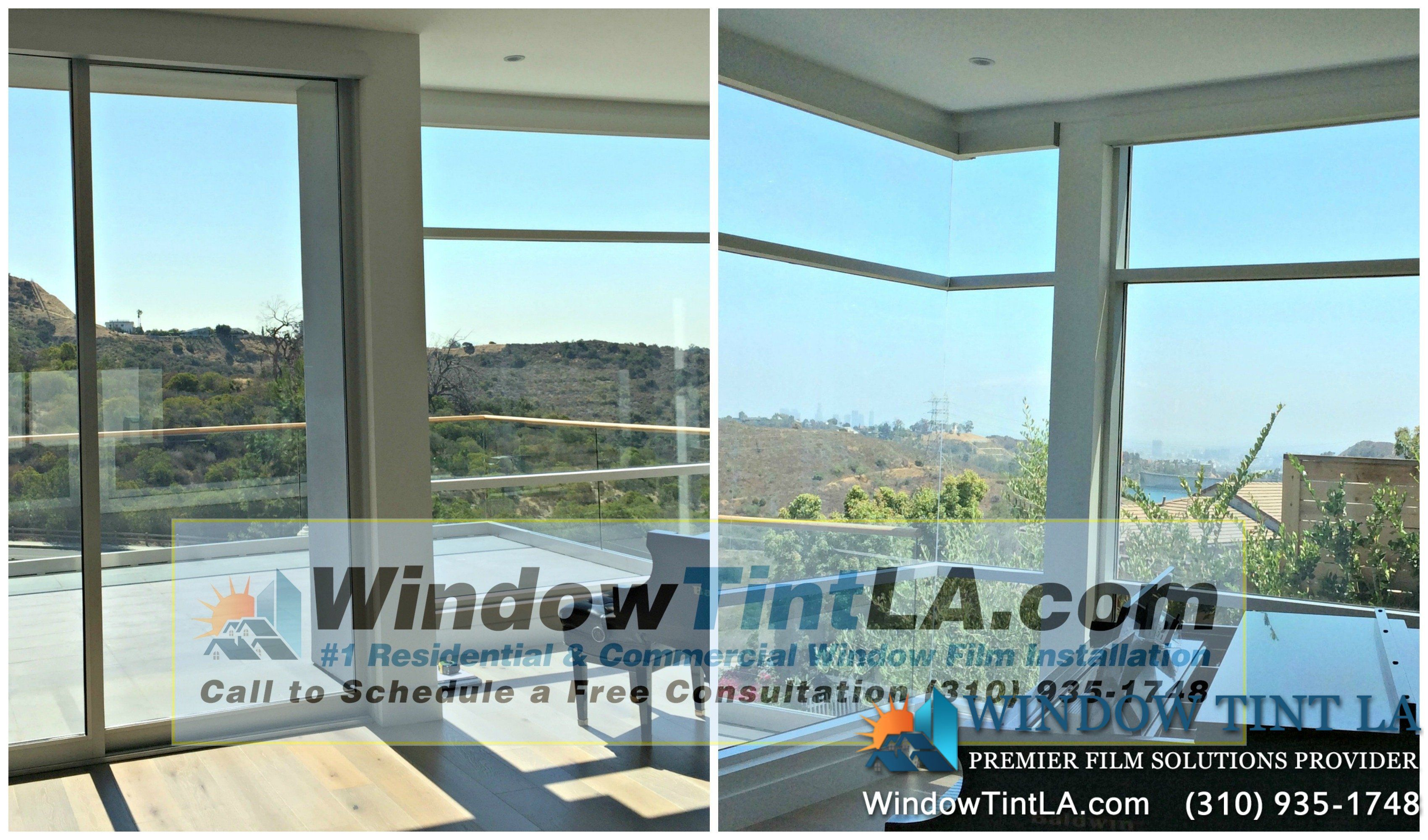 Before And After Window Tint Was Applied Windows Tinted House Windows Tinted Windows