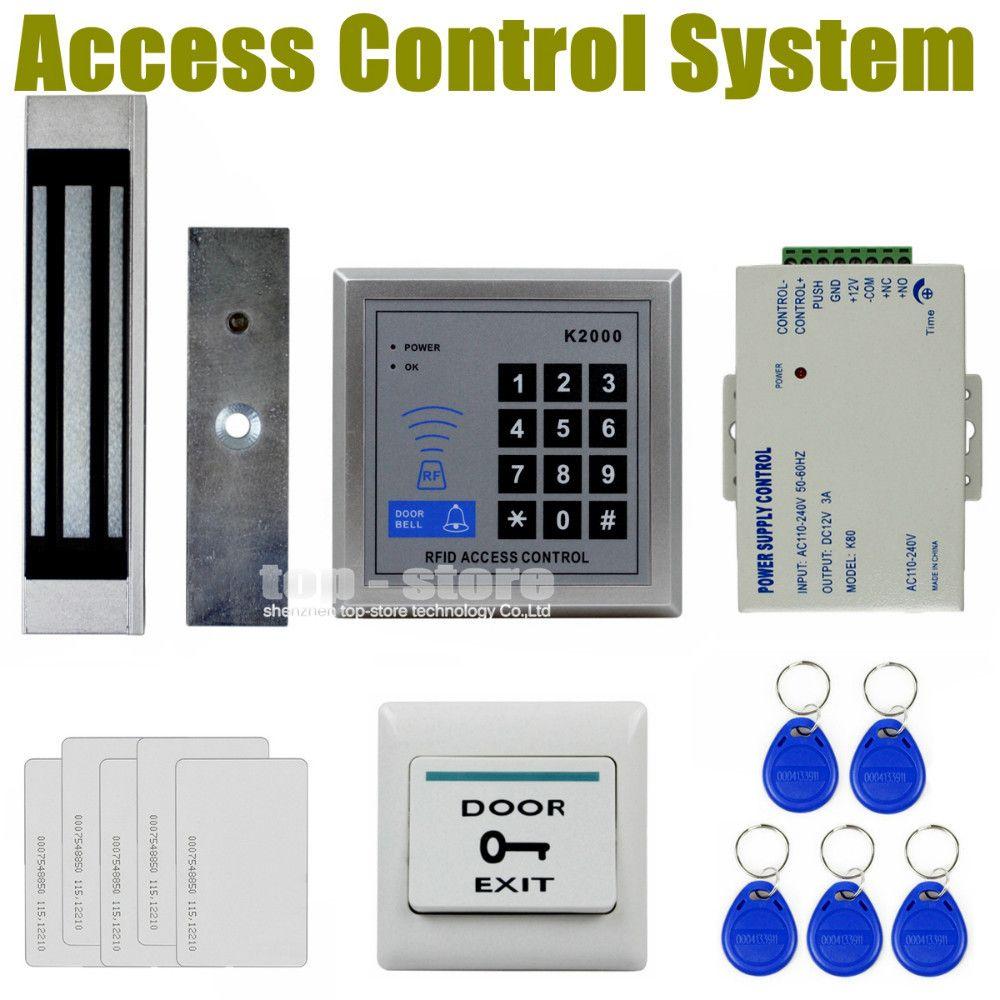 Diysecur 125khz Rfid Card Reader Keypad Door Access Control Security System Kit 180kg Electric Magn Magnetic Card Reader Access Control Access Control System