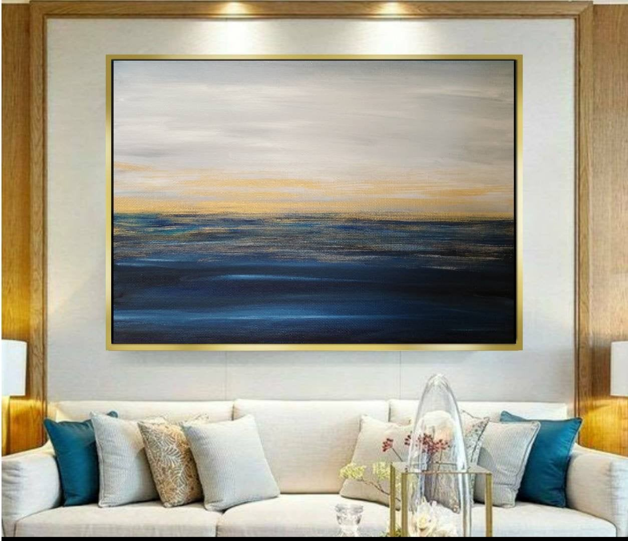 Abstract Painting Seascape Painting Original Painting Etsy In 2020 Office Artwork Seascape Paintings Ocean Painting #painting #picture #for #living #room