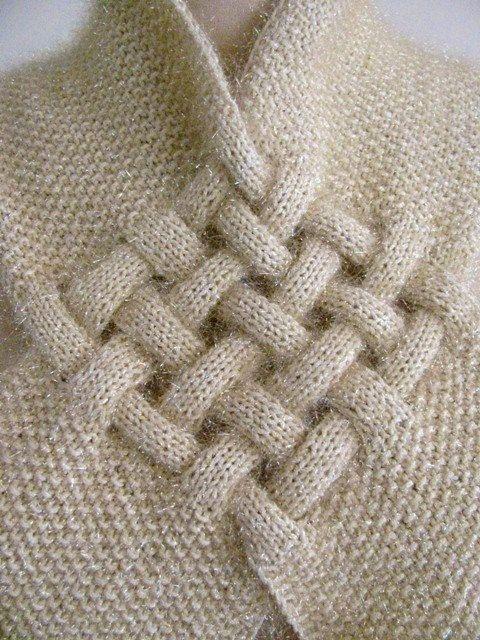 stylish neckwarmer | tricot | Pinterest | Tejido, Trenza celta y Dos ...