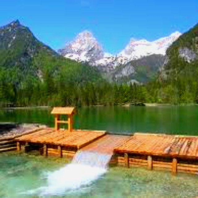 Schiederweiher in Hinterstoder, Pyhrn Priel Urlaubsregion, Oberösterreich, Austria