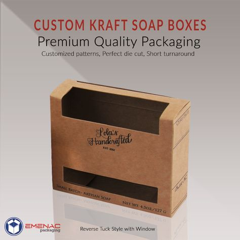 Design Your Soapboxes In Kraft Material To Make Your Soappackaging Ecofriendly And Express Your Greencommitment Soap Packaging Soap Boxes How To Make Box