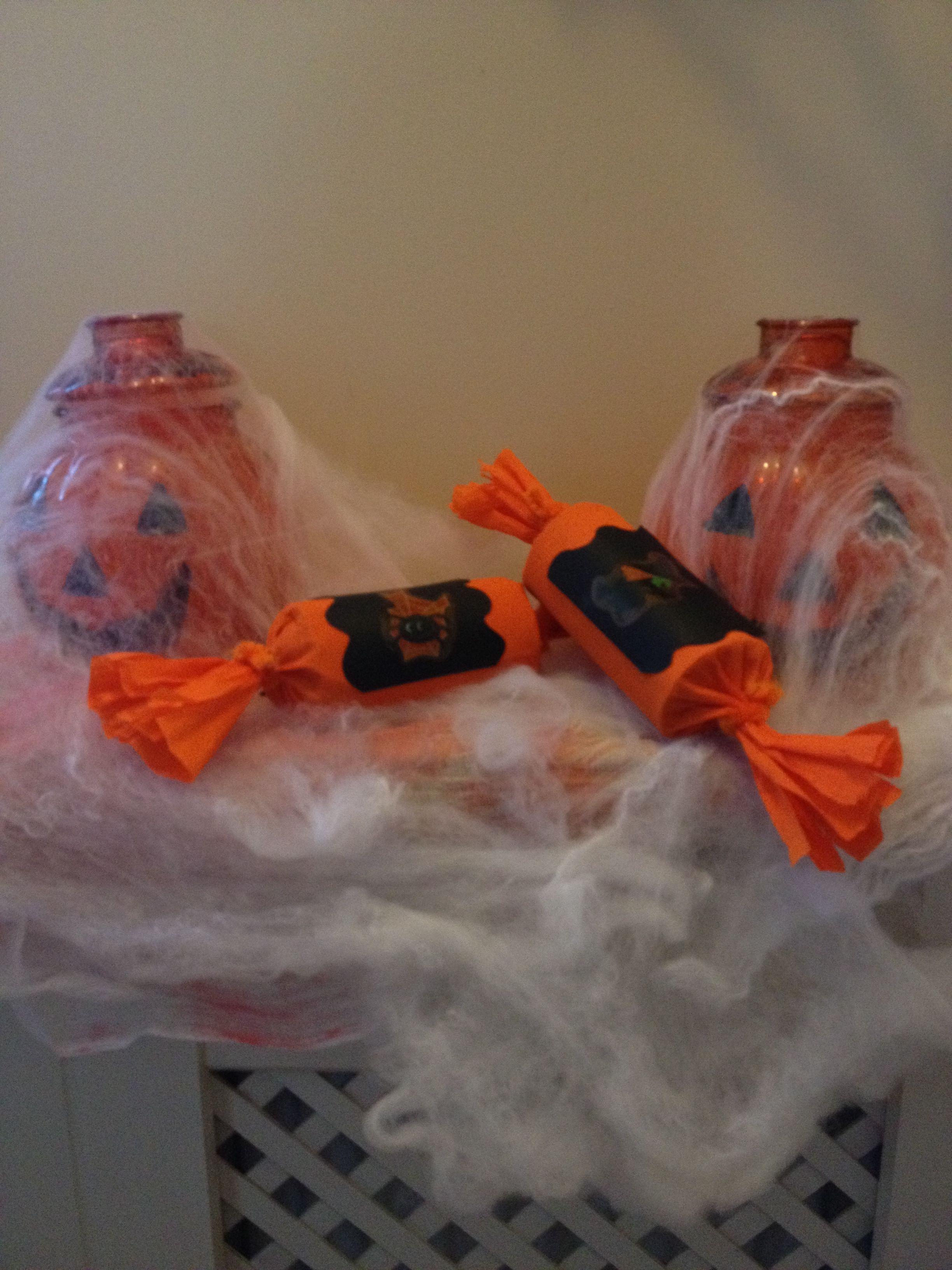 Homemade Halloween crackers