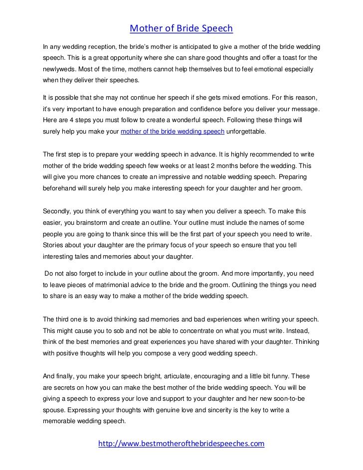 Mother Of The Bride Wedding Speech 4 Steps To Create A Wonderful Sp Bride Wedding Speech Wedding Speech Wedding Speech Examples