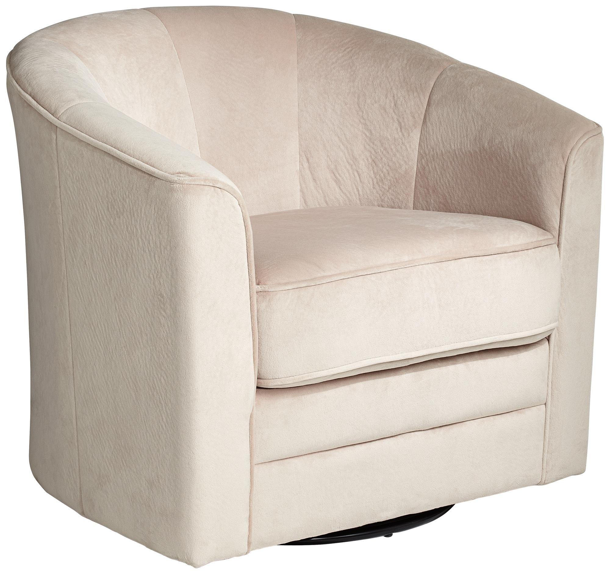 Keller Argos Muse Pearl Velvet Swivel Chair X5006 Lamps Plus