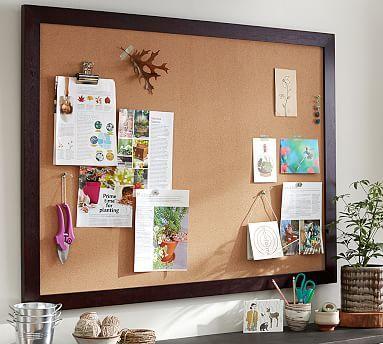 framed corkboard 36 x 24 black at pottery barn. Black Bedroom Furniture Sets. Home Design Ideas