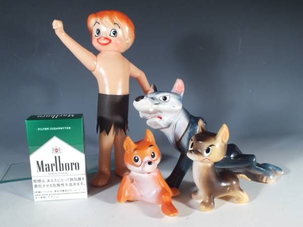 "Vintage Wolf Boy Ken doll _ ""A soft vinyl toys in those days Asakusa"" Boys Wolves and Smokes - what more could you want!"