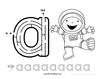 Free Letter Mazes for Kids! Print up this set of lowercase