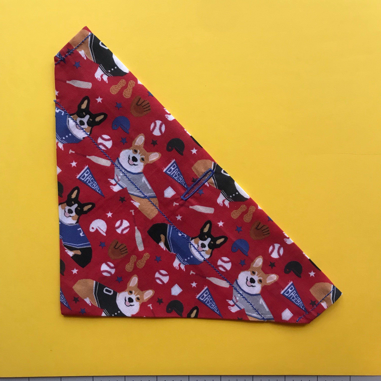 Baseball dog bandana by on etsy https